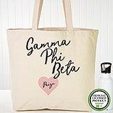 Personalized Gamma Phi Beta Sorority Canvas Tote Bag - 19853