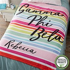 Personalized Sorority Blankets - Gamma Phi Beta - 19854