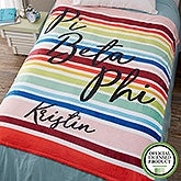 Personalized Sorority Blankets - Pi Beta Phi - 19870