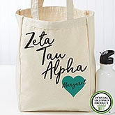 Personalized Zeta Tau Alpha Tote Bag - Small - 19872