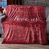 Personalized Fleece Blankets - I Love Us - 19969