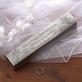 Silver Engraved Marriage Certificate Keepsake Holder - 1997