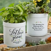 Personalized Flower Pots - Let Love Grow - 19990