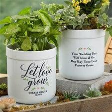 Personalized Flower Pots - Let Love Grow - 19990
