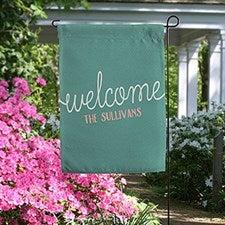Personalized Garden Flag - Front Door Greetings - 19996