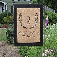 Farmhouse Floral Personalized Burlap Garden Flag - 20001