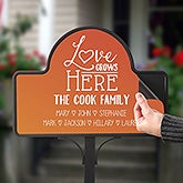 Personalized Magnetic Garden Sign - Love Grows Here - 20004