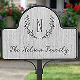 Personalized Magnetic Garden Sign - Farmhouse Floral - 20007