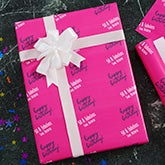 Personalized Birthday Wrapping Paper - Step & Repeat - 20035