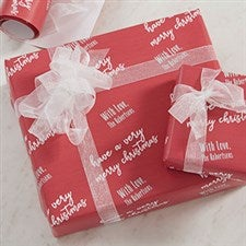 Personalized Christmas Wrapping Paper - Step & Repeat - 20036