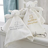 Christening Lamb Personalized Security Blanket - 20045