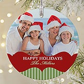 Peronalized Premium Photo Christmas Ornament - Classic Holiday - 20051