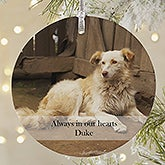 Personalized Pet Photo Christmas Ornament - Pet Memories - 20052