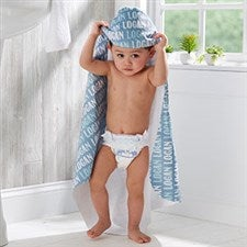 Personalized Baby Hooded Towel - Modern Boy - 20058