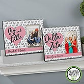 Personalized Sorority Picture Frames - Delta Zeta - 20063