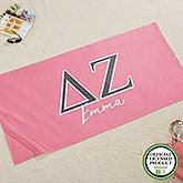 Delta Zeta Personalized Beach Towel - 20076
