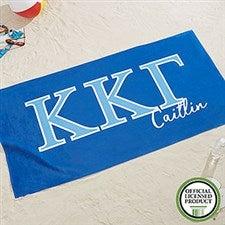 Kappa Kappa Gamma Personalized Beach Towel - 20081