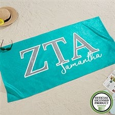 Zeta Tau Alpha Personalized Beach Towel - 20084