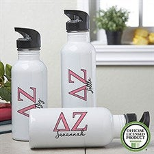 Personalized Delta Zeta Water Bottle - 20093