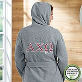 Alpha Chi Omega Personalized Sweatshirt Robe - 20100