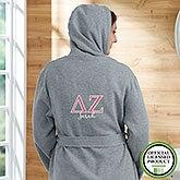Delta Zeta Personalized Sweatshirt Robe - 20108