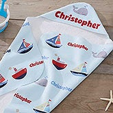 Personalized Hooded Beach Towel - Water World - 20117