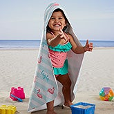 Flamingo Personalized Hooded Beach Towel - 20118