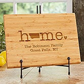 Home State Personalized Bamboo Cutting Board - 20128
