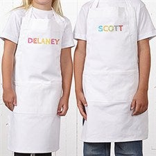 Personalized Aprons & Chef Hats for Kids - Stencil Name - 20141
