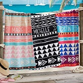 Bohemian Chic Personalized Beach Towel - 20142