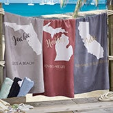 State Pride Personalized Beach Towel - 20143