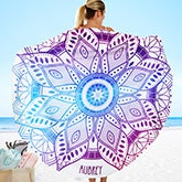 Mandala Personalized Round Beach Towel - 20146