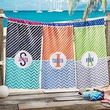 Personalized Beach Towels - Colorful Name - 20147