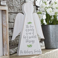 Family Blessing Personalized Wood Angel - 20163