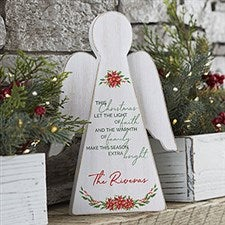 Christmas Blessings Personalized Wood Angel - 20168