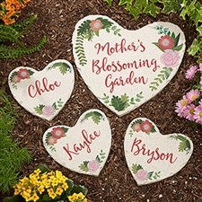 Personalized Garden Stones - Mom's Blossoming Garden - 20171