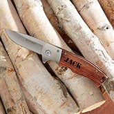 Personalized Knife - Wooden Handle Folding Knife - 20172