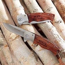 Groomsman Personalized Wooden Handle Folding Knife - 20173
