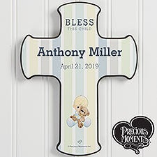 Personalized Baby Wall Cross - Precious Moments Bless This Child - 20184