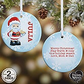 Personalized Precious Moments Santa Christmas Ornament - 20188
