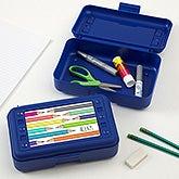 Personalized Pencil Box - Vibrant Hues - 20197