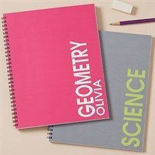 Personalized Notebooks - Bold Name - 20203