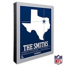 Dallas Cowboys Personalized NFL Wall Art - 20213