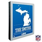 Detroit Lions Personalized NFL Wall Art - 20215