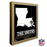New Orleans Saints Personalized NFL Wall Art - 20226