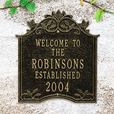 Personalized Outdoor Welcome Plaque - Hedra - 20243D