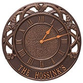 "Personalized 16"" Indoor Outdoor Wall Clock - Chateau - 20244D"