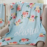 Personalized Floral Baby Blankets - 20250