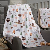 Woodland Adventure Personalized Baby Blankets - 20253