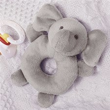 Grey Elephant Baby Rattle - 20263